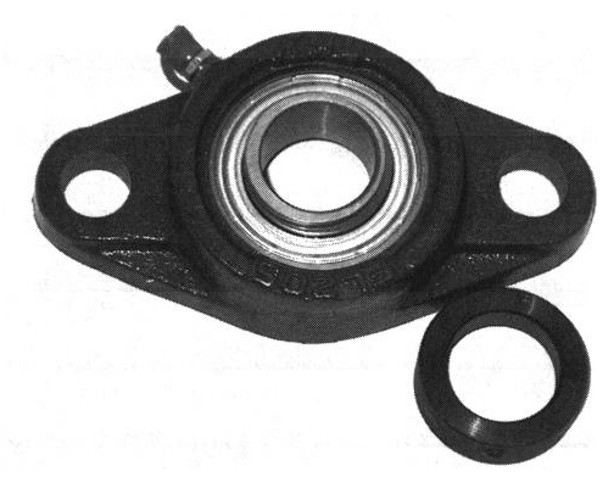 "SAFL209-28g, 2 Bolt Flange 1-3/4"" Bore w/ collar"